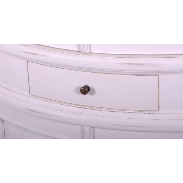 rundkommode rund kommode oslo mahagoni holz schrank eckschrank wei 791756424362 ebay. Black Bedroom Furniture Sets. Home Design Ideas
