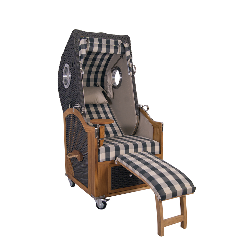 strandkorb kampen spezial single mocca duo pe polyrattan. Black Bedroom Furniture Sets. Home Design Ideas
