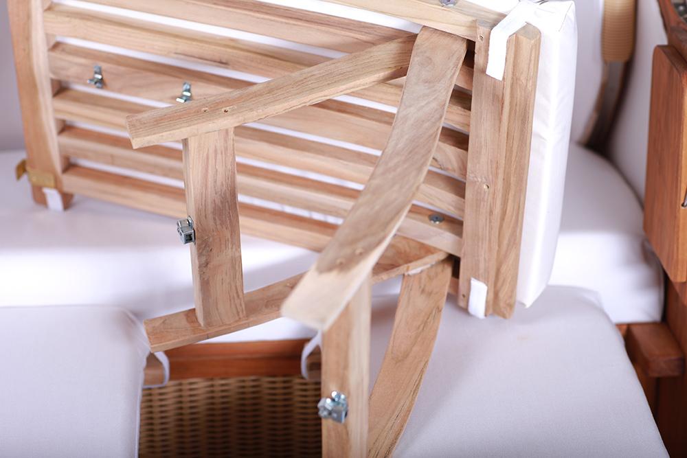 Polyrattan Sitzer Style : Strandkorb kampen sitzer mocca duo polyrattan