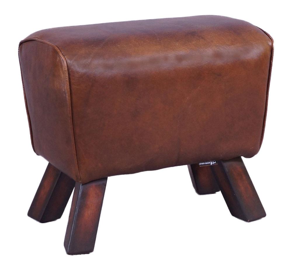 design fu hocker buck vintage leder sprungbock design. Black Bedroom Furniture Sets. Home Design Ideas