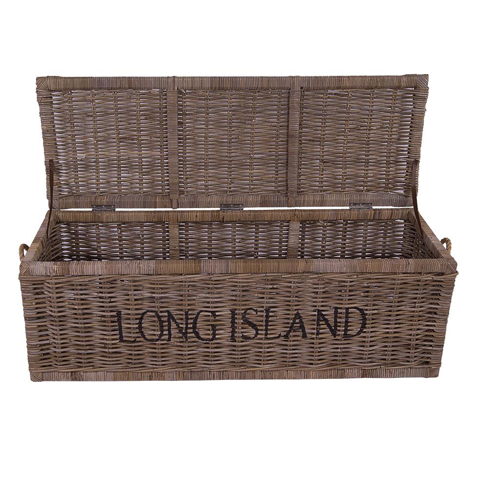 korbtruhe long island gro korb rattan rattankorb naturrrattan geflecht ebay. Black Bedroom Furniture Sets. Home Design Ideas