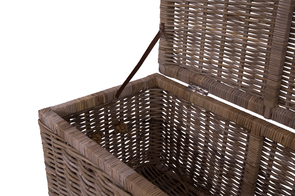 korbtruhe long island gro korb rattan rattankorb naturrrattan geflecht 634480555585 ebay. Black Bedroom Furniture Sets. Home Design Ideas