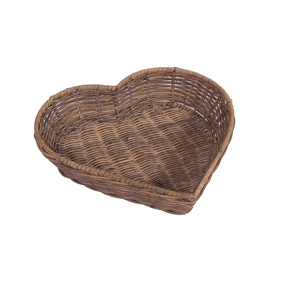 korbset herz 2 k rbe rattankorb k rbchen naturrattan handgefertigt korb rattan ebay. Black Bedroom Furniture Sets. Home Design Ideas