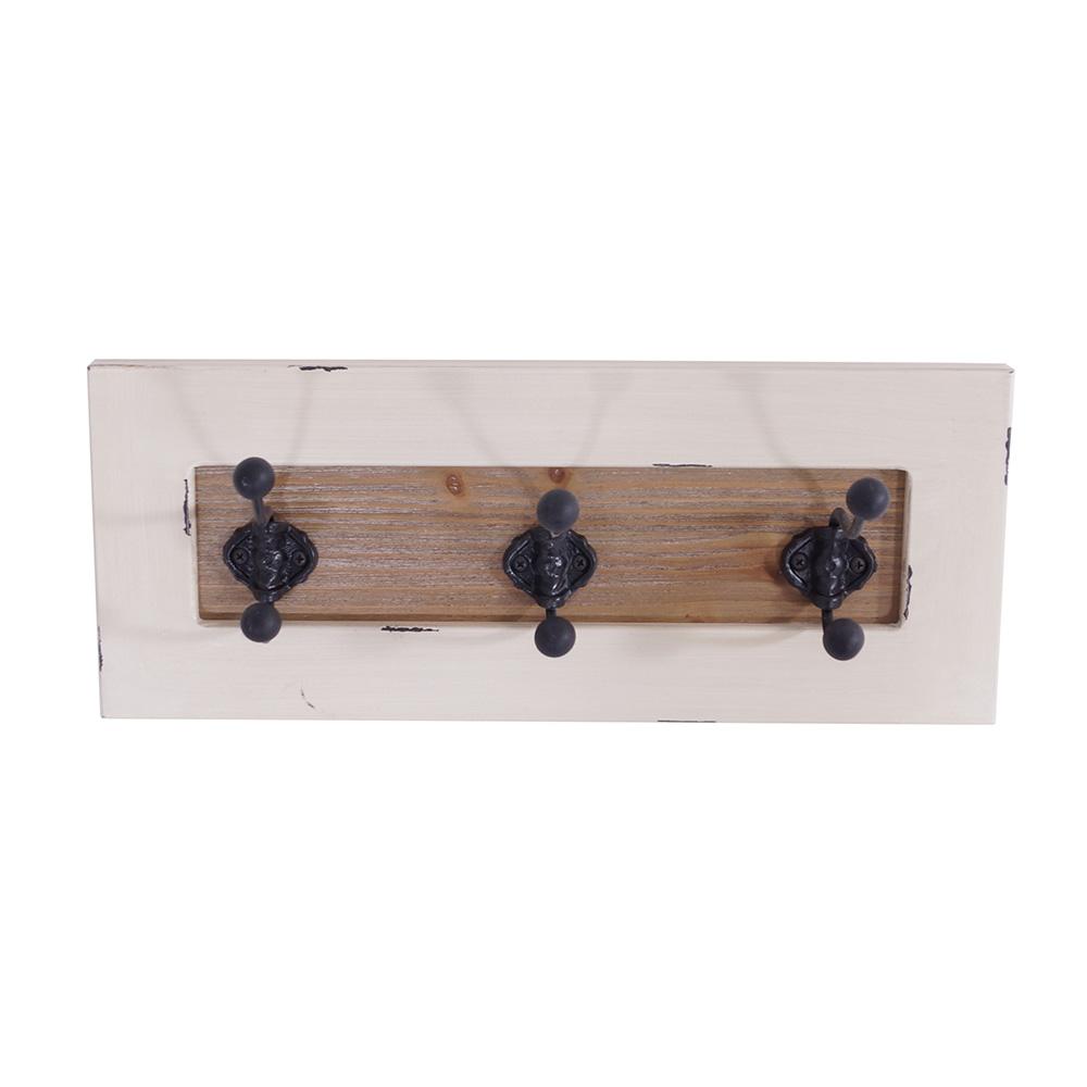 wandgarderobe garderobe shabby hakenleiste regal holz antik wei landhaus ebay. Black Bedroom Furniture Sets. Home Design Ideas