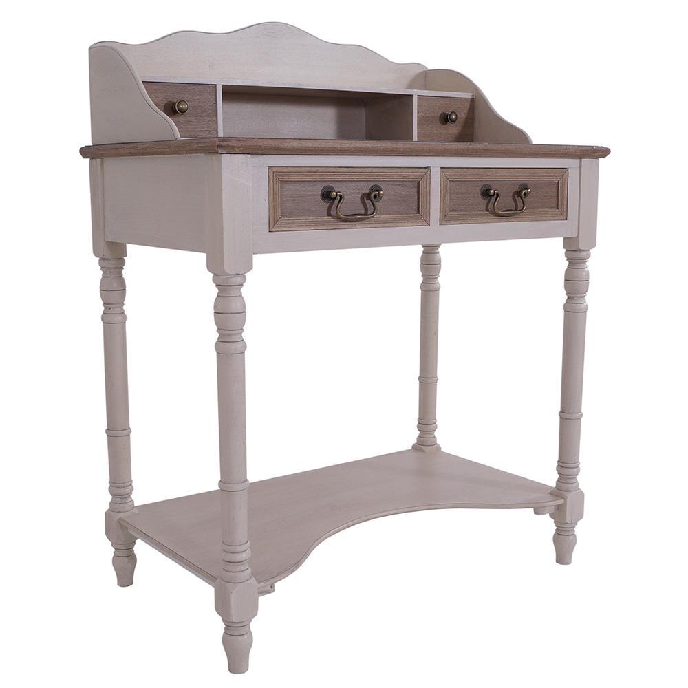 sekret r provence 4 schubladen holz landhaus stil vintage schreibtisch 634480552799 ebay. Black Bedroom Furniture Sets. Home Design Ideas