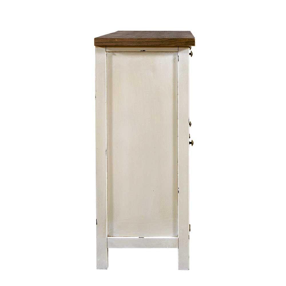 schuhschrank bretagne holz landhaus stil vintage look schrank creme wei neu ebay. Black Bedroom Furniture Sets. Home Design Ideas