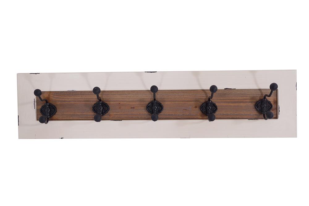 wandgarderobe garderobe shabby hakenleiste regal holz. Black Bedroom Furniture Sets. Home Design Ideas