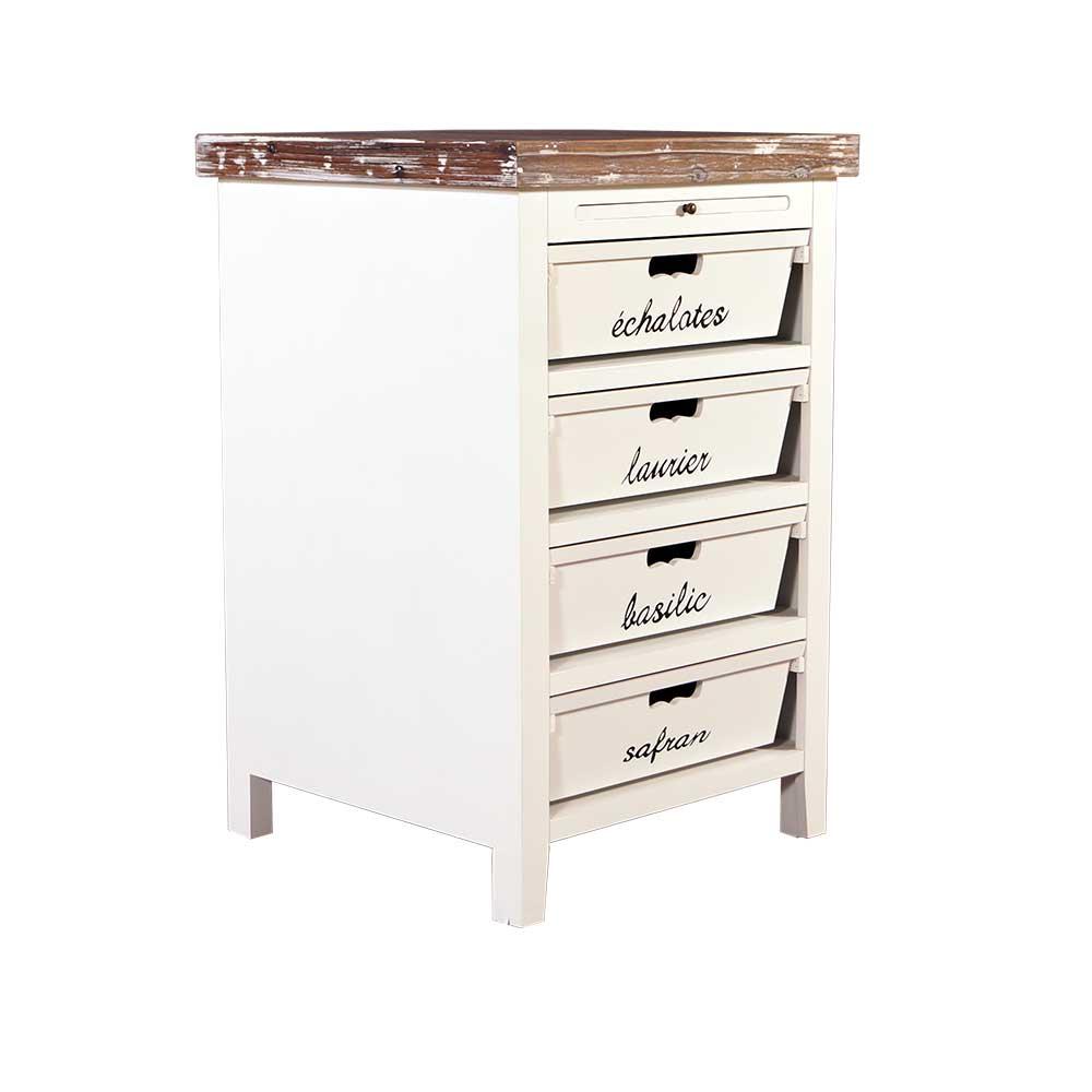 k chenregal dijon holz landhaus stil vintage look schrank creme wei neu 3654615155555 ebay. Black Bedroom Furniture Sets. Home Design Ideas