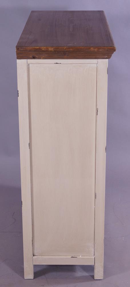 schuhschrank paris landhaus stil holz vintage look creme. Black Bedroom Furniture Sets. Home Design Ideas
