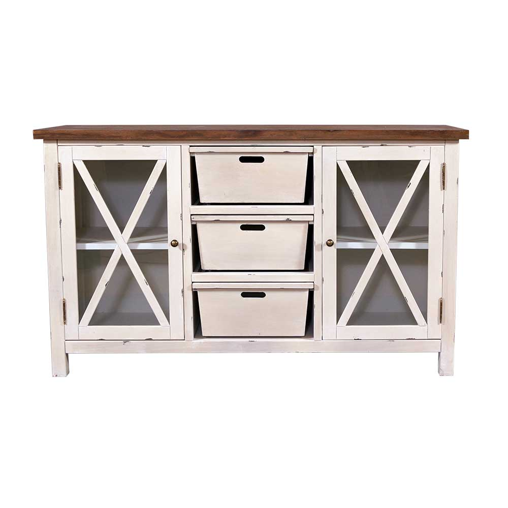 sideboard loire holz landhaus stil kommode schrank creme. Black Bedroom Furniture Sets. Home Design Ideas
