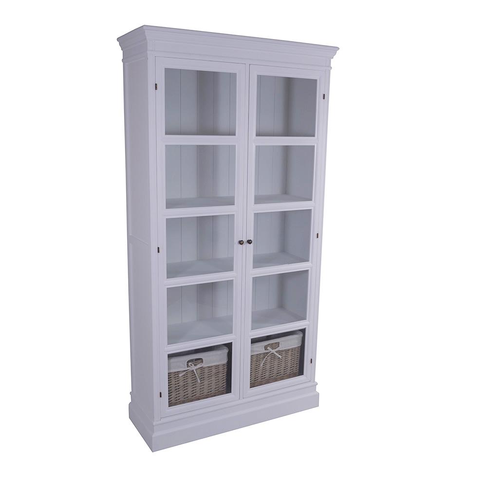 vitrinenschrank larvik buffet holz glas vitrine landhaus. Black Bedroom Furniture Sets. Home Design Ideas