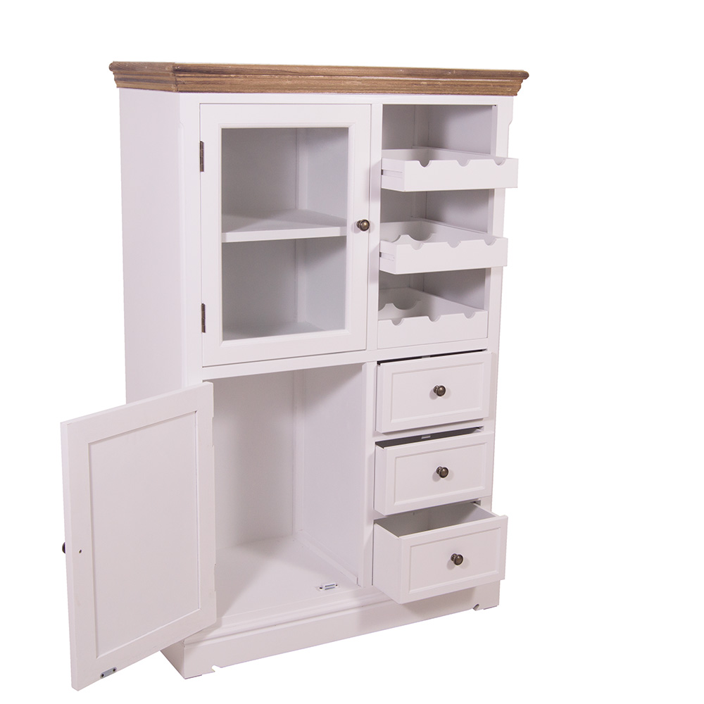 vorratsschrank borris weinfach landhaus stil holz vintage look wei 634480553772 ebay. Black Bedroom Furniture Sets. Home Design Ideas