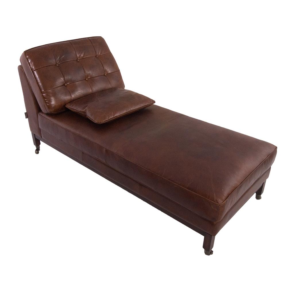 chaiselounge duncow vintage cigar vintage leder rekamiere. Black Bedroom Furniture Sets. Home Design Ideas