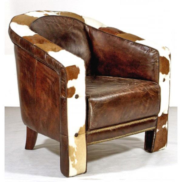 echtleder kuhfell vintage designsessel wexford clubsessel neu patina 5198741551235 ebay. Black Bedroom Furniture Sets. Home Design Ideas