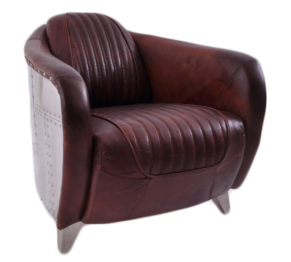 echtleder design vintage chromsessel designsessel aberford. Black Bedroom Furniture Sets. Home Design Ideas