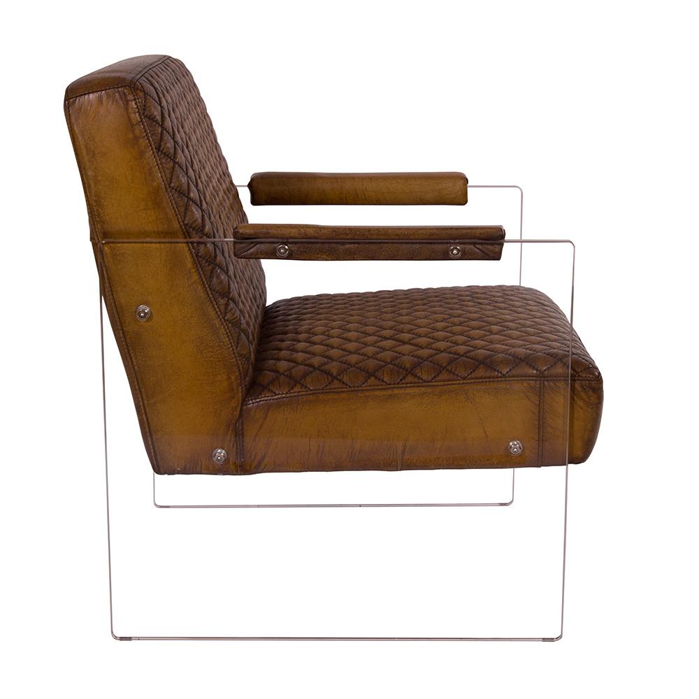 cocktailsessel armani winsconsin vintage leder acrylglas. Black Bedroom Furniture Sets. Home Design Ideas