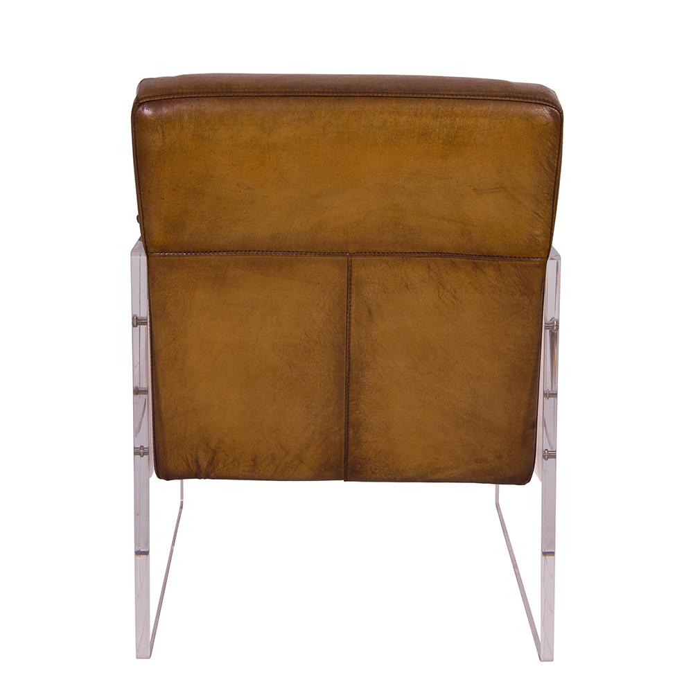 cocktailsessel armani winsconsin vintage leder acrylglas ledersessel ebay. Black Bedroom Furniture Sets. Home Design Ideas