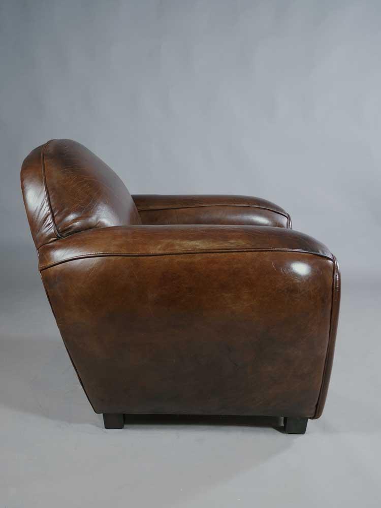 Clubsessel Art Deco Vintage Cigar Lounge Design Ledersessel Sessel