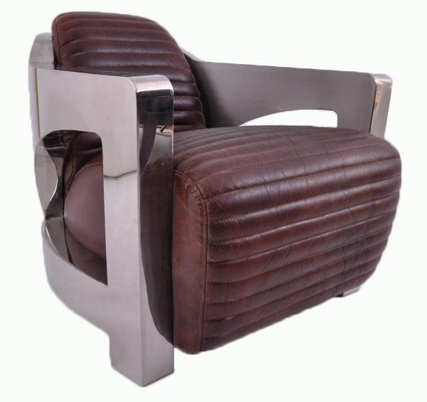 Design clubsessel clifford chrom vintage leder sessel ledersessel m bel neu ebay - Retro wohnideen ...