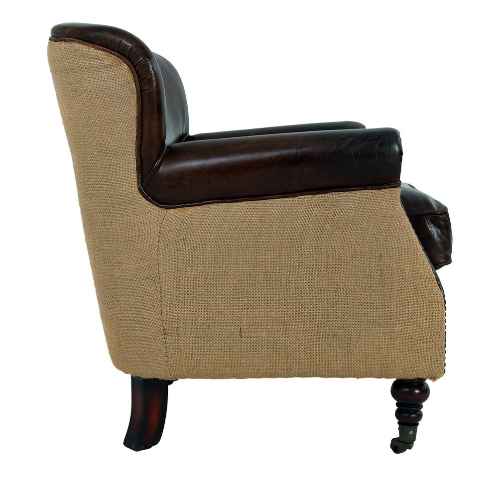 echtleder design vintage designsessel dyke sessel jute ebay. Black Bedroom Furniture Sets. Home Design Ideas