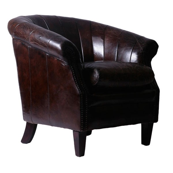cocktailsessel colonel ii leder vintage cigar dunkelbraun ledersessel sessel 1427444235888 ebay. Black Bedroom Furniture Sets. Home Design Ideas