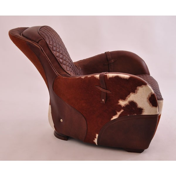 design clubsessel greenfield braun vintage leder kuhfell. Black Bedroom Furniture Sets. Home Design Ideas