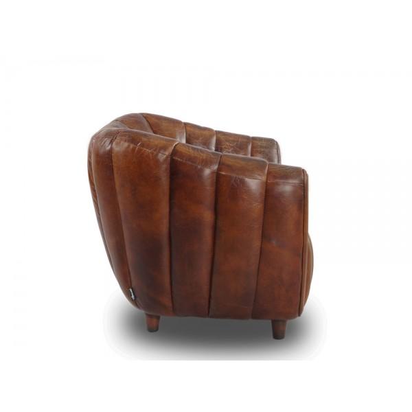 cocktailsessel juniper gerippt leder ledersessel vintage. Black Bedroom Furniture Sets. Home Design Ideas