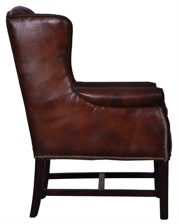 echtleder vintage ohrensessel designsessel kaiser. Black Bedroom Furniture Sets. Home Design Ideas