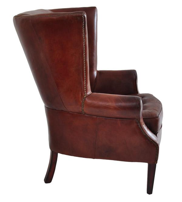 echtleder vintage ohrensessel designsessel manea antik neu. Black Bedroom Furniture Sets. Home Design Ideas