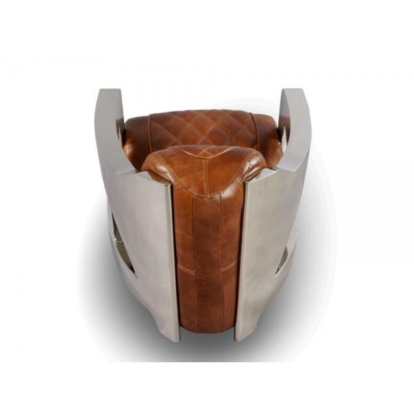 designsessel nash plain montaigne brown chrom ledersessel. Black Bedroom Furniture Sets. Home Design Ideas