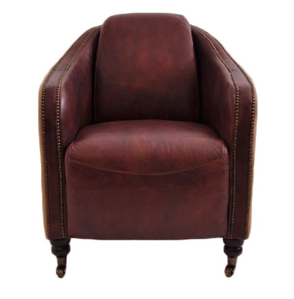 clubsessel winchester vintage leder jute ledersessel. Black Bedroom Furniture Sets. Home Design Ideas