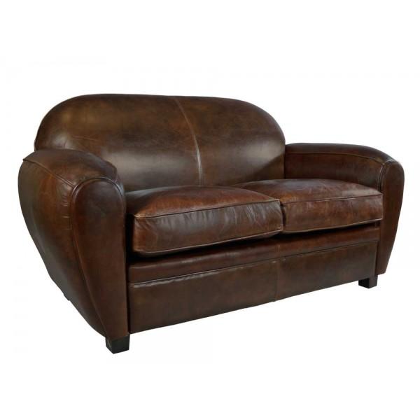 art deco sofa 2 sitzer vintage cigar leder m bel ledersofa clubsofa couch 791756422351 ebay. Black Bedroom Furniture Sets. Home Design Ideas
