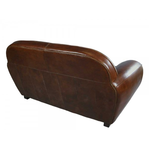 art deco sofa 2 sitzer vintage cigar leder m bel ledersofa. Black Bedroom Furniture Sets. Home Design Ideas