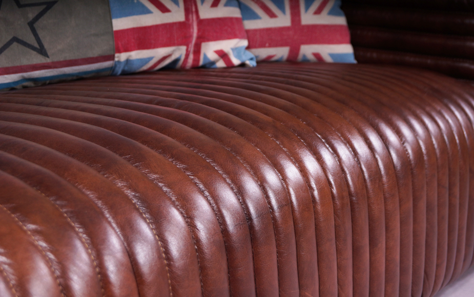 lamberton echtleder vintage 2 sitzer ledersofa designsofa zweisitzer sofa dark ebay. Black Bedroom Furniture Sets. Home Design Ideas