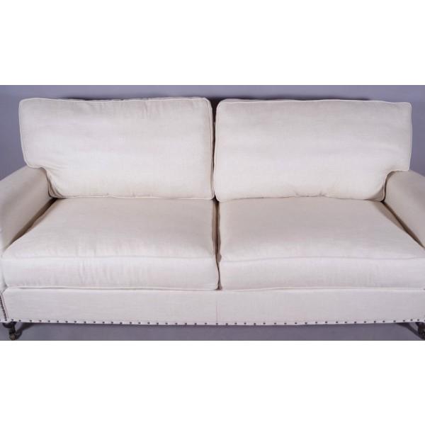 classic sofa design couch zweisitzer klassiker oxford vintage leinen 2 sitzer ebay. Black Bedroom Furniture Sets. Home Design Ideas