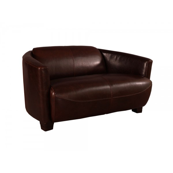 ledersofa rocket classic 2 sitzer vintage cigar leder sofa ledercouch clubsofa ebay. Black Bedroom Furniture Sets. Home Design Ideas