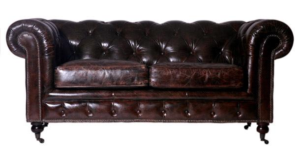 vintage leder design dreisitzer sofa chesterfield antik luxus braun ebay. Black Bedroom Furniture Sets. Home Design Ideas