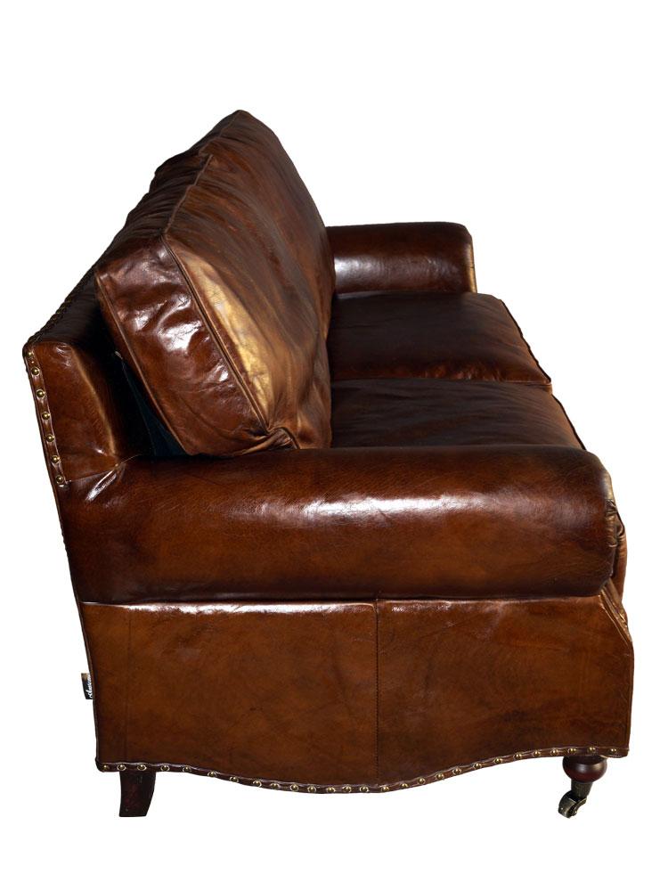 Vintage Leder Design Zweisitzer Klassiker Sofa Wales antik