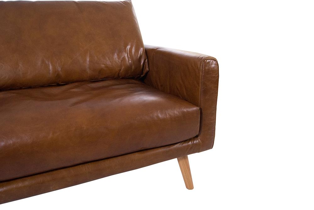 arnum sofa 3 sitzer design ledersofa cuba braun vintage leder m bel couch 3er ebay. Black Bedroom Furniture Sets. Home Design Ideas
