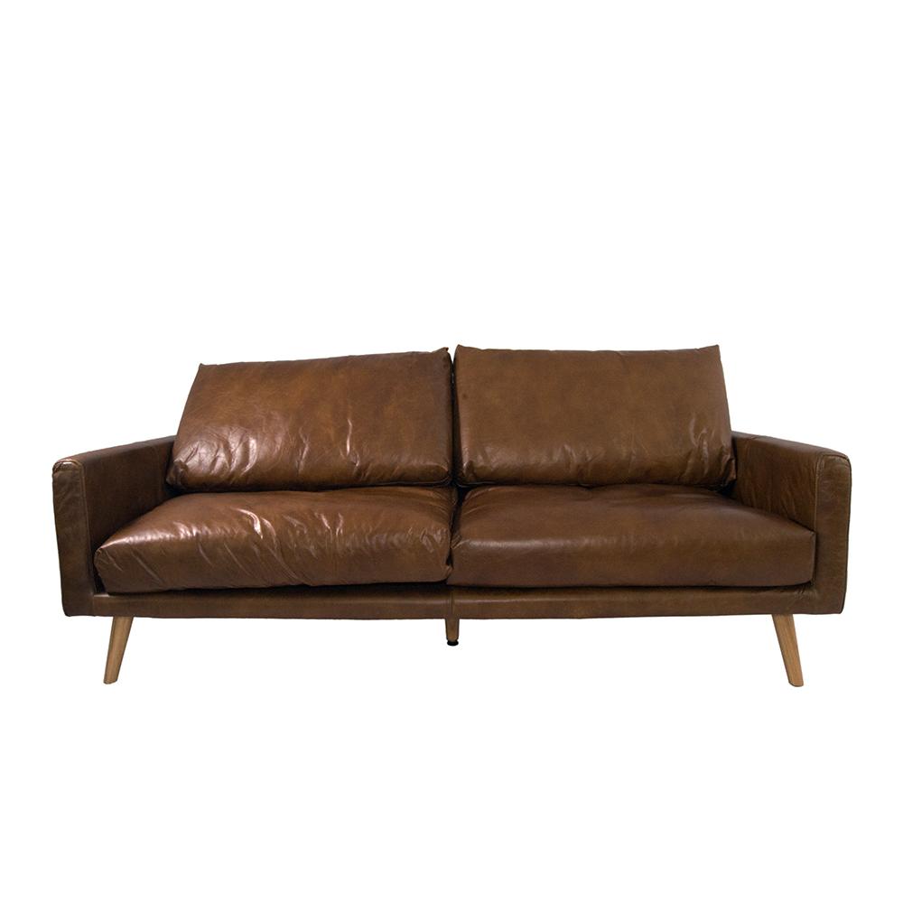 arnum sofa 3 sitzer design ledersofa cuba braun vintage. Black Bedroom Furniture Sets. Home Design Ideas