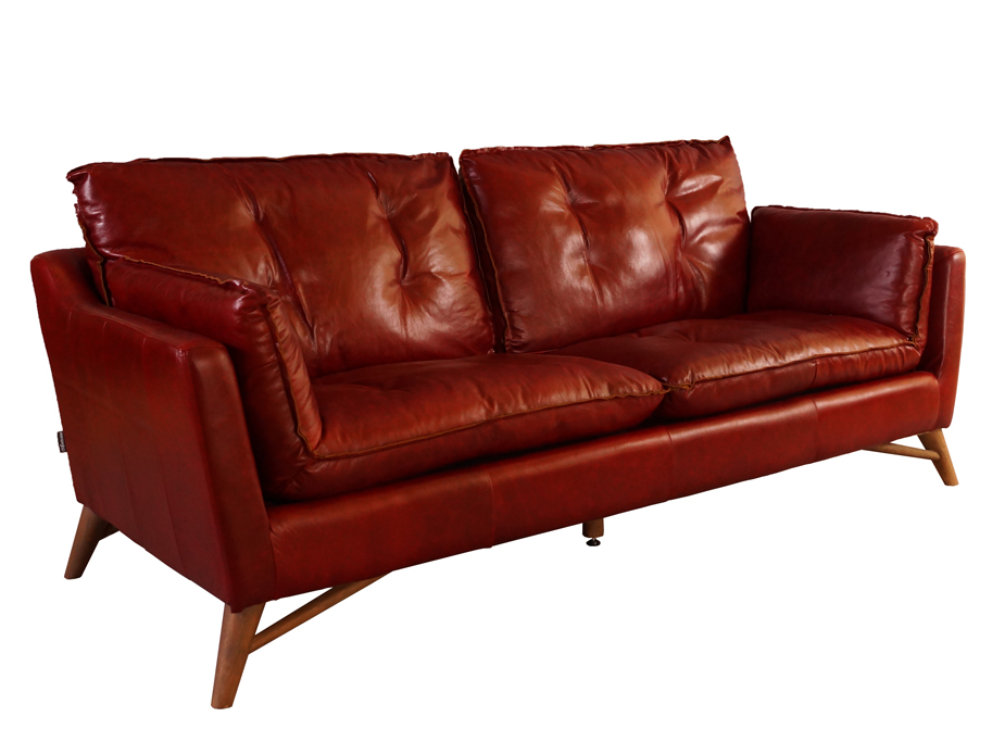 bantry sofa 3 sitzer design ledersofa royal rouge vintage leder m bel couch 3er ebay. Black Bedroom Furniture Sets. Home Design Ideas