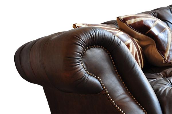 Wohnideen Manuela Mehl castlefield sofa 3 sitzer chesterfield vintage leder möbel stil