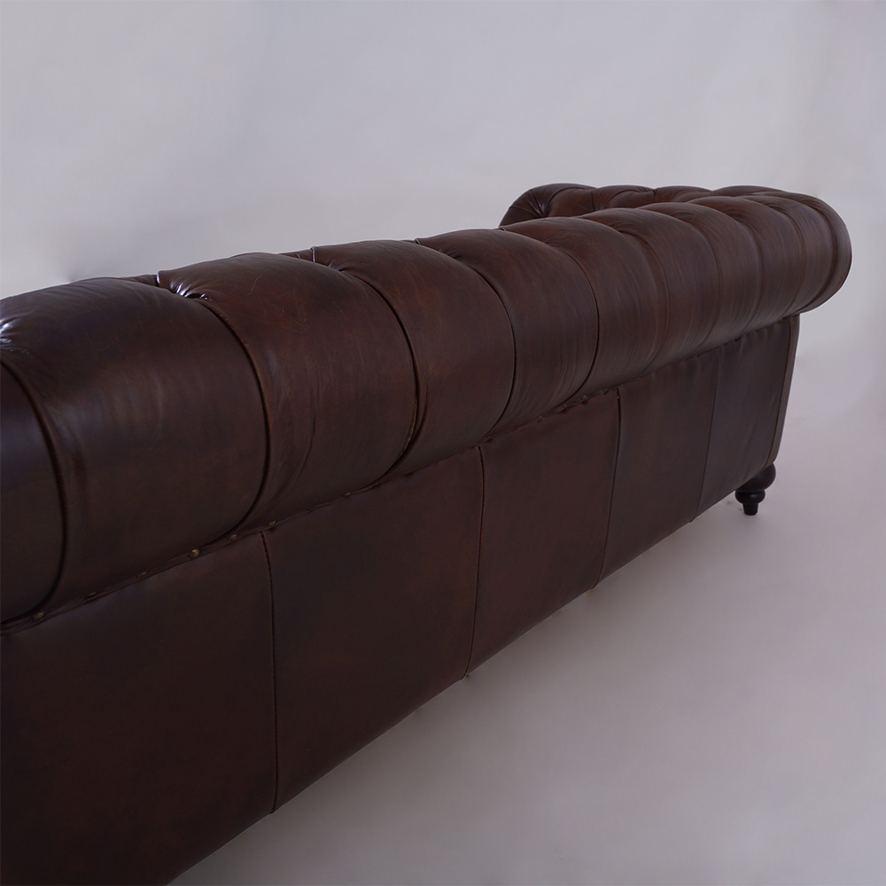 castlefield sofa 3 sitzer chesterfield vintage cigar leder. Black Bedroom Furniture Sets. Home Design Ideas