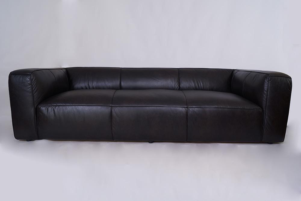 echtleder sofa dublin leder designsofa 3 sitzer clubsofa belon black ebay. Black Bedroom Furniture Sets. Home Design Ideas