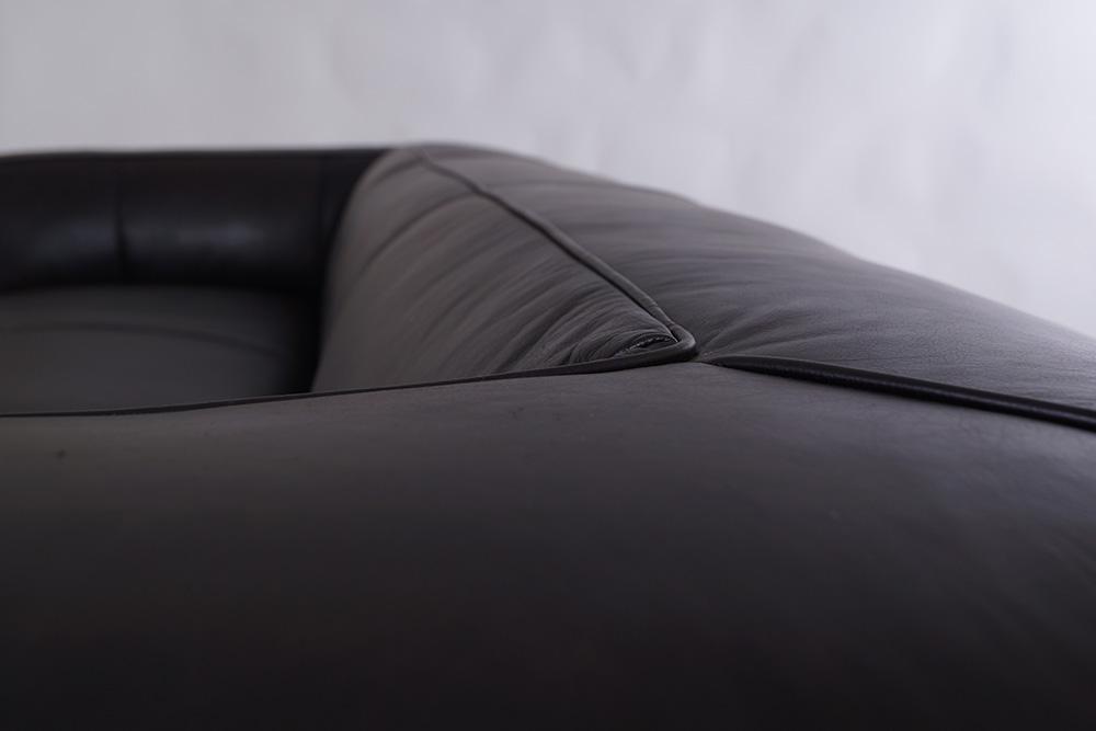 vintage echtleder sofa bugatti leder designsofa 2 sitzer ebay. Black Bedroom Furniture Sets. Home Design Ideas