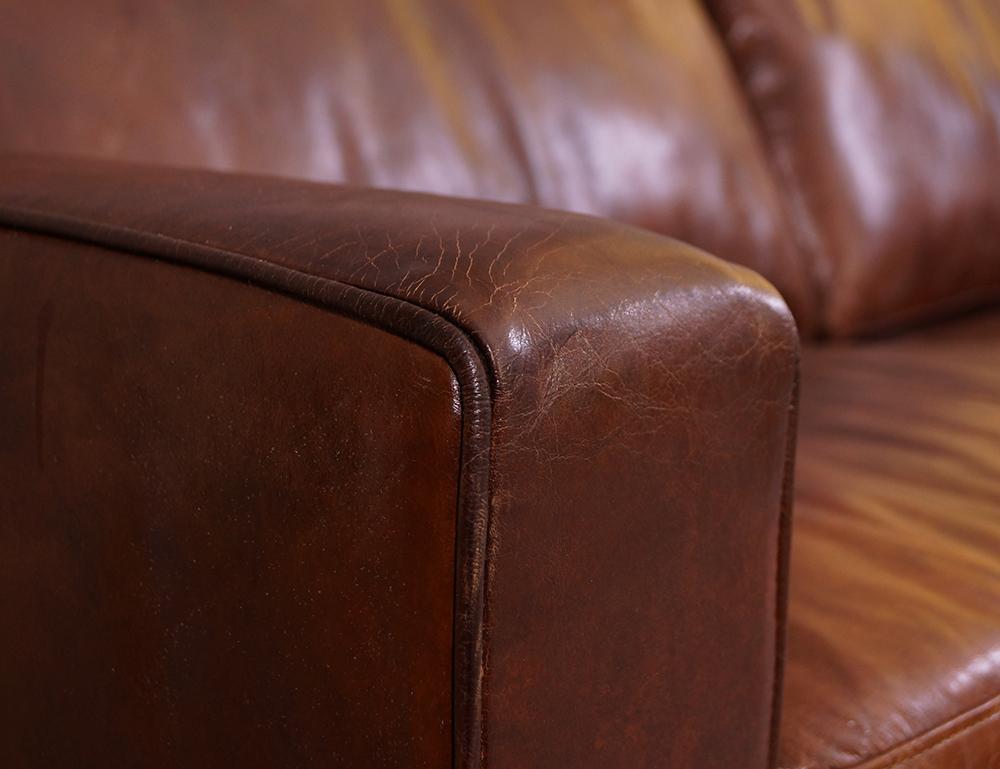 Durban sofa 3 sitzer vintage cigar leder m bel stil for Lounge mobel 2 sitzer