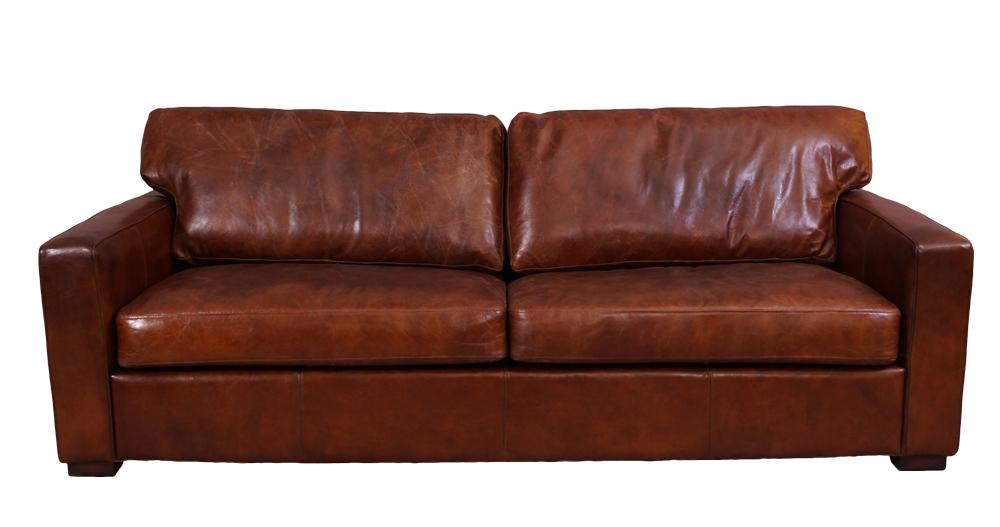 durban sofa 3 sitzer vintage cigar leder m bel stil ledersofa loungesofa 791756424089 ebay. Black Bedroom Furniture Sets. Home Design Ideas