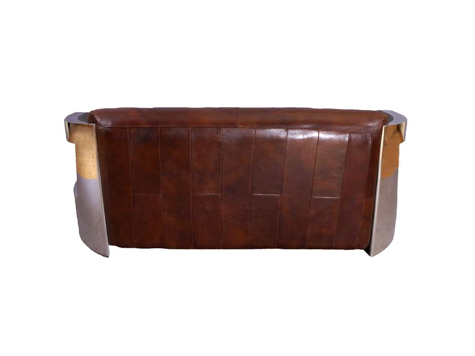design clubsofa mars 3 sitzer sofa ledersofa dreisitzer chrom vintage leder neu 5244741777981 ebay. Black Bedroom Furniture Sets. Home Design Ideas