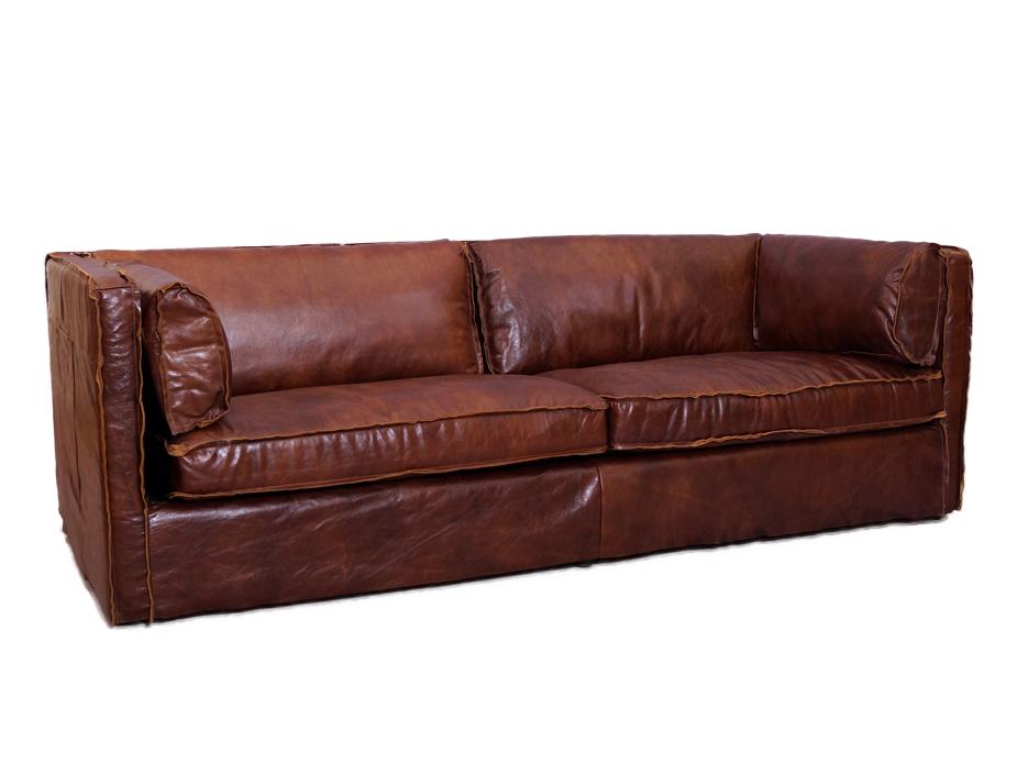 Clubsofa tario Sofa 3 Sitzer Vintage Leder Möbel