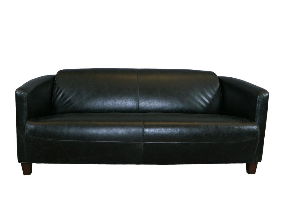 vintage echtleder sofa rocket schwarz belon black dreisitzer ledersofa 3 sitzer ebay. Black Bedroom Furniture Sets. Home Design Ideas